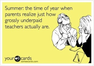 summer underpaid teachers